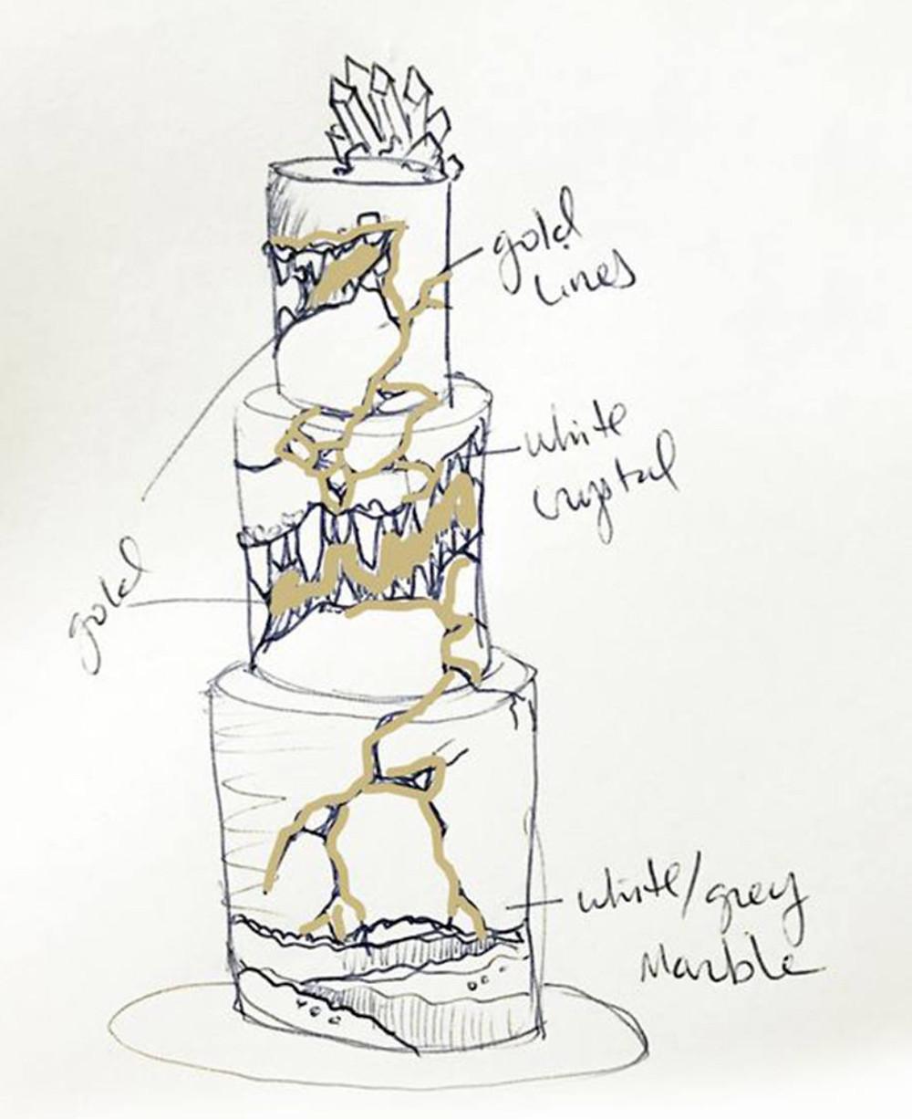 kintsugi cake - Rose Rae Cake Boutique