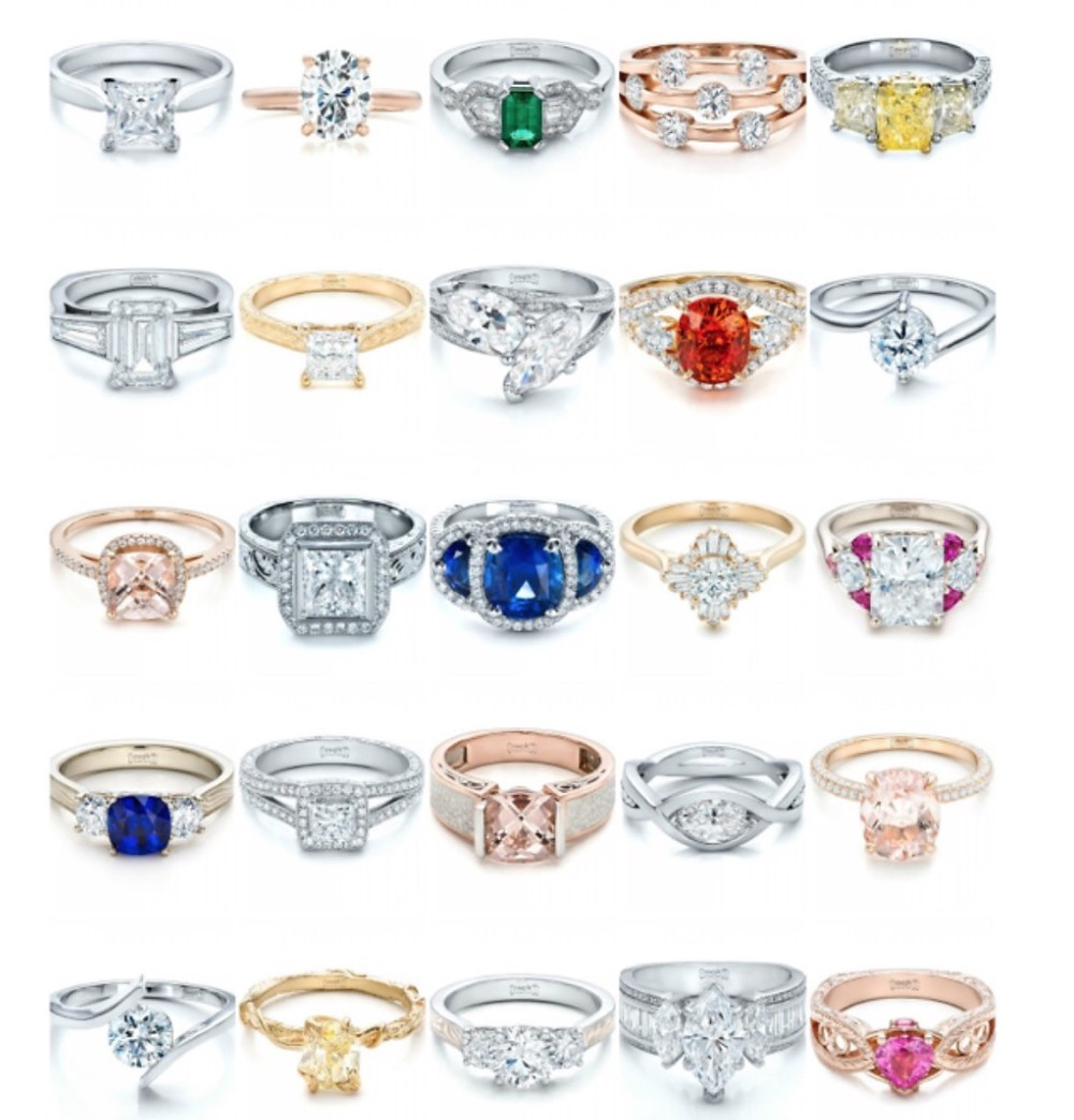 colored gemstone engagement rings