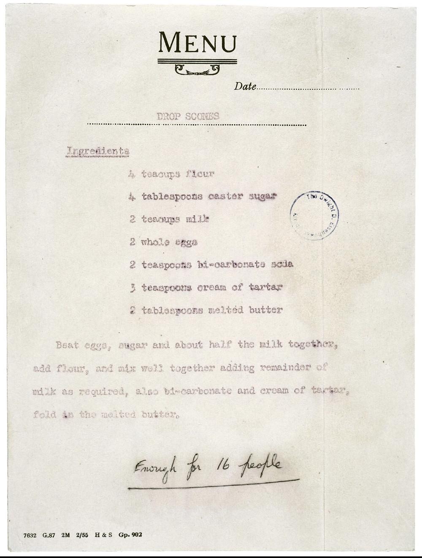 Queen Elizabeth - Scotch Pancake Recipe - National Archives