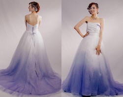 Dip Dyed Wedding Dress