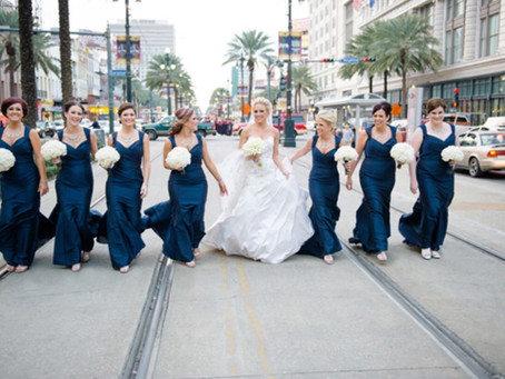 Navy is the new black...and other 2018 wedding trends we love!