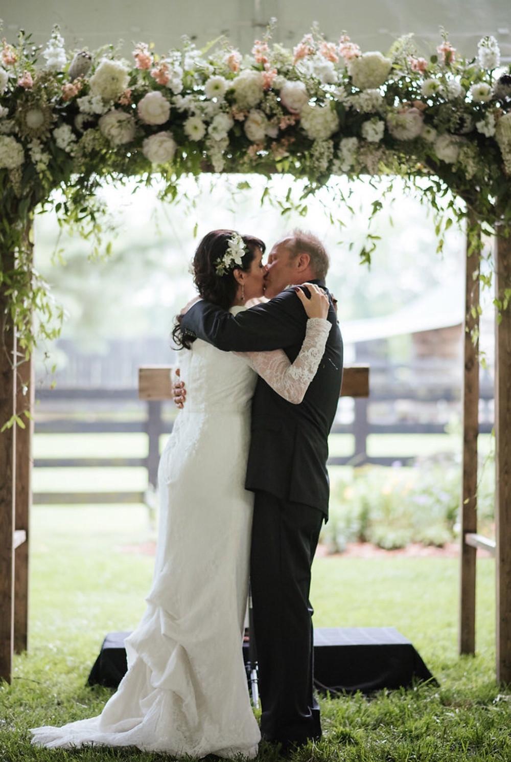 Franklin, TN Wedding + First Kiss