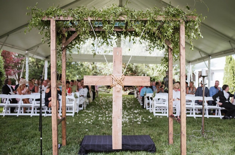 Franklin, TN Wedding + Wedding Arbor