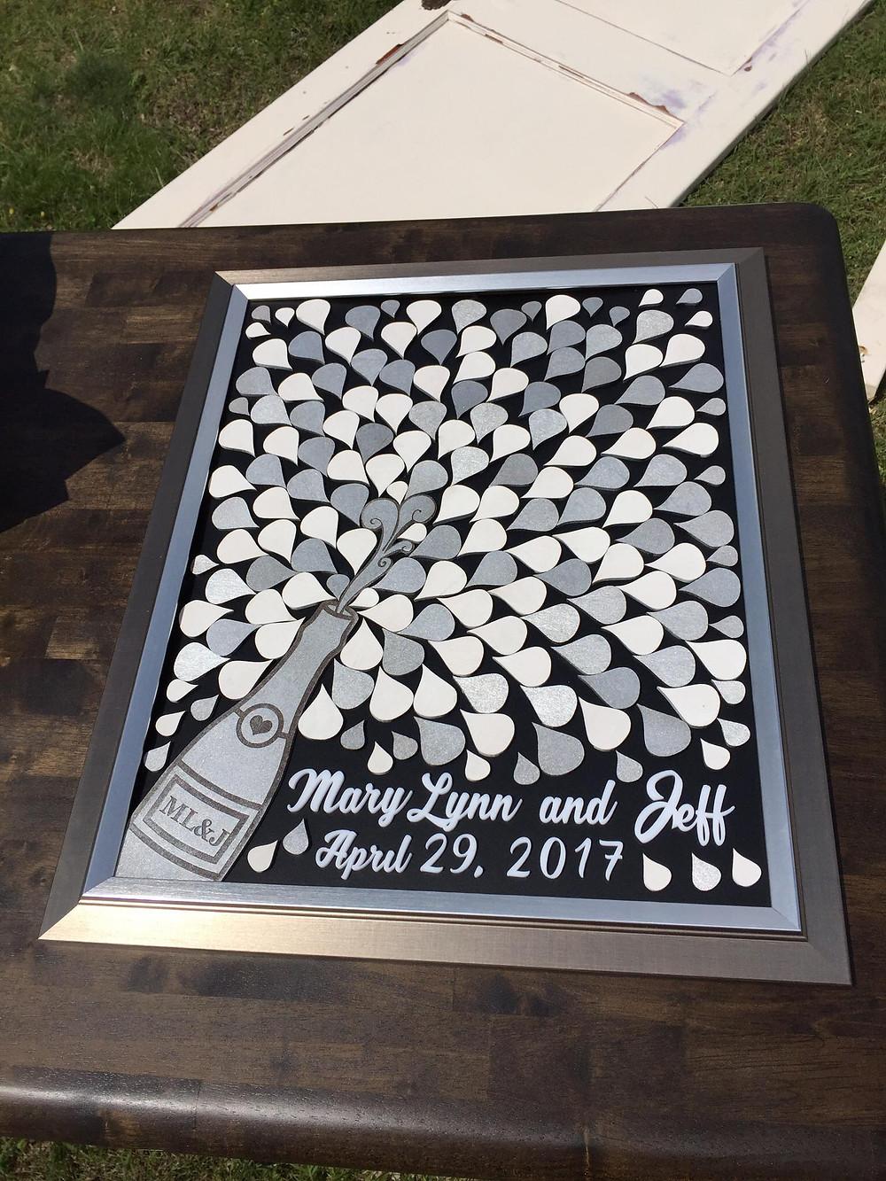 Wedding Guest Book - Champagne Bottle