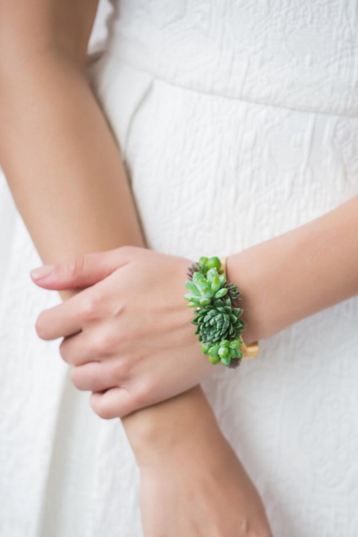 succulent statement bracelet