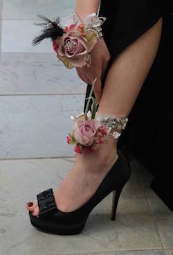 Floral Anklet Corsage