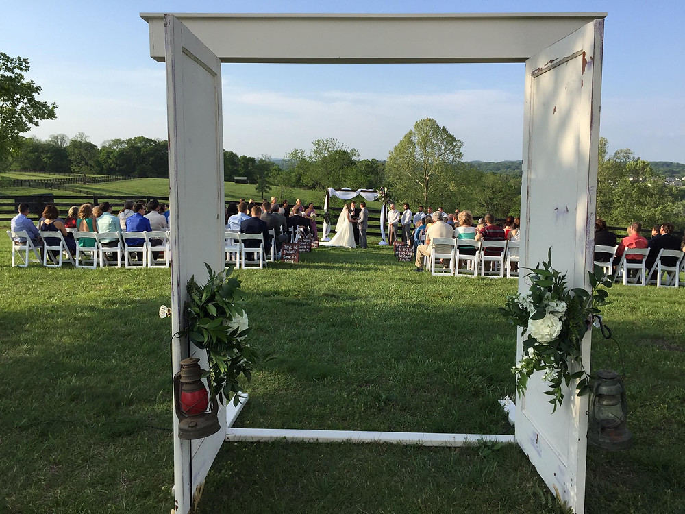 Bride and Groom through doorway - Franklin, TN