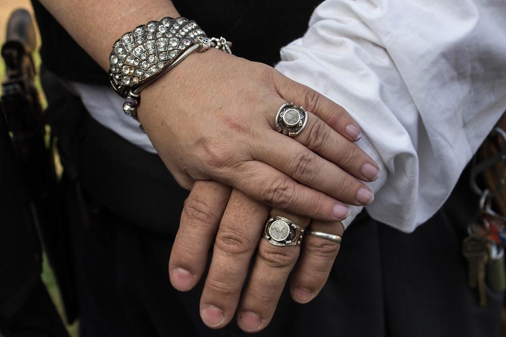 meteorite wedding rings