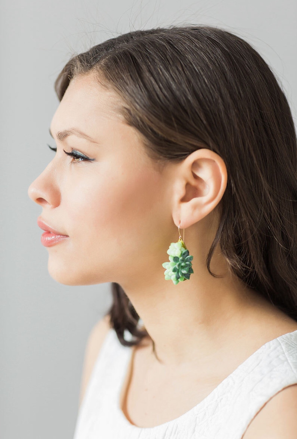 succulent statement earrings