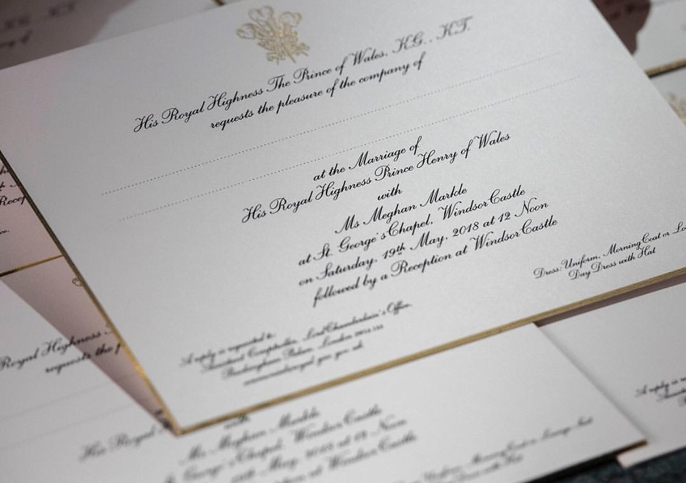 Royal Wedding Invitation - Getty Images