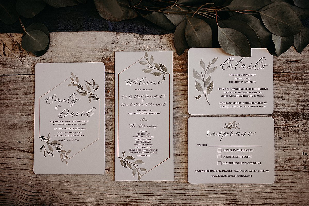 Stationery Suite with Greenery