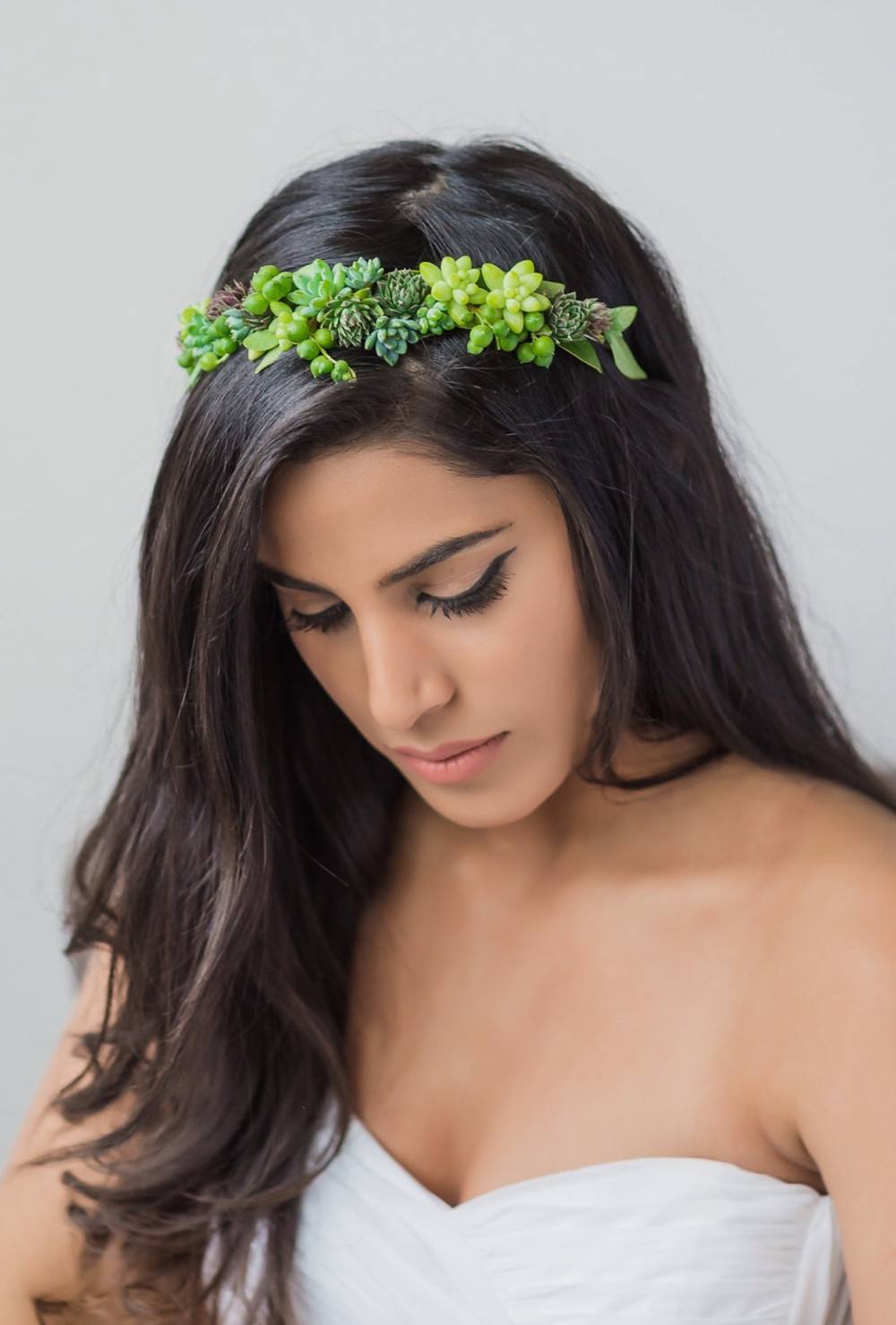 succulent statement tiara