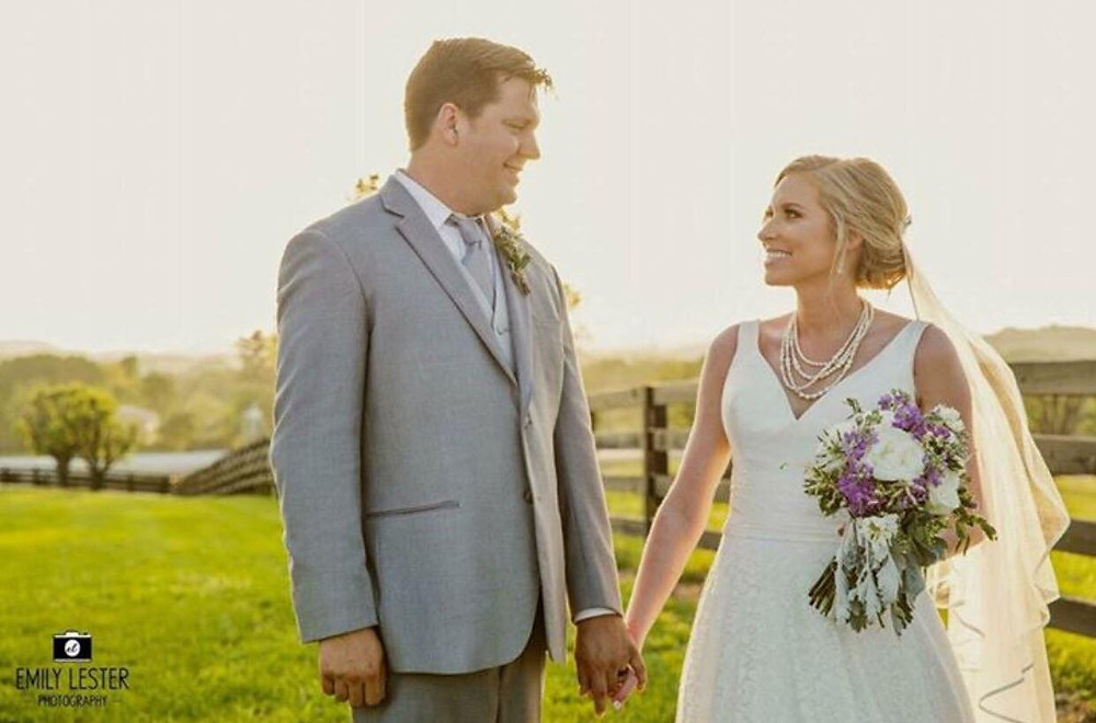 Bride with purple flowers - Nashville, TN