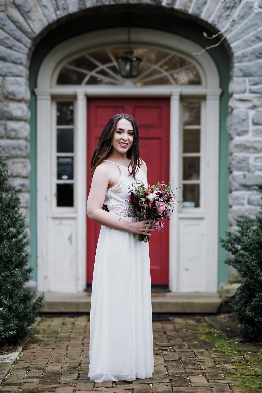 Bride at Cheekwood Mansion, Nashville