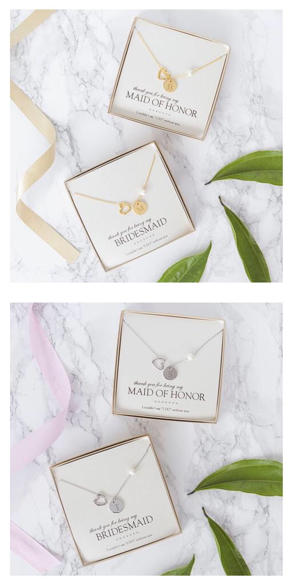Personalized Bridesmaids Gifts - Initial Necklace
