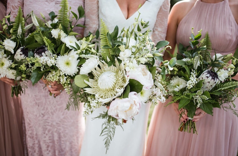 Franklin, TN Wedding + White Bouquets