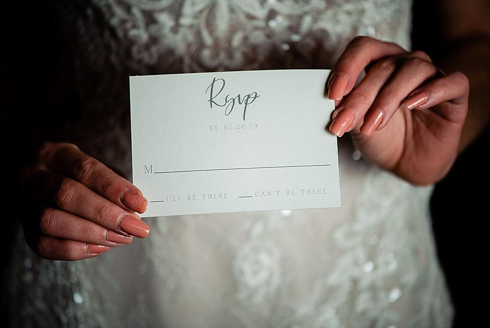 Classy RSVP card