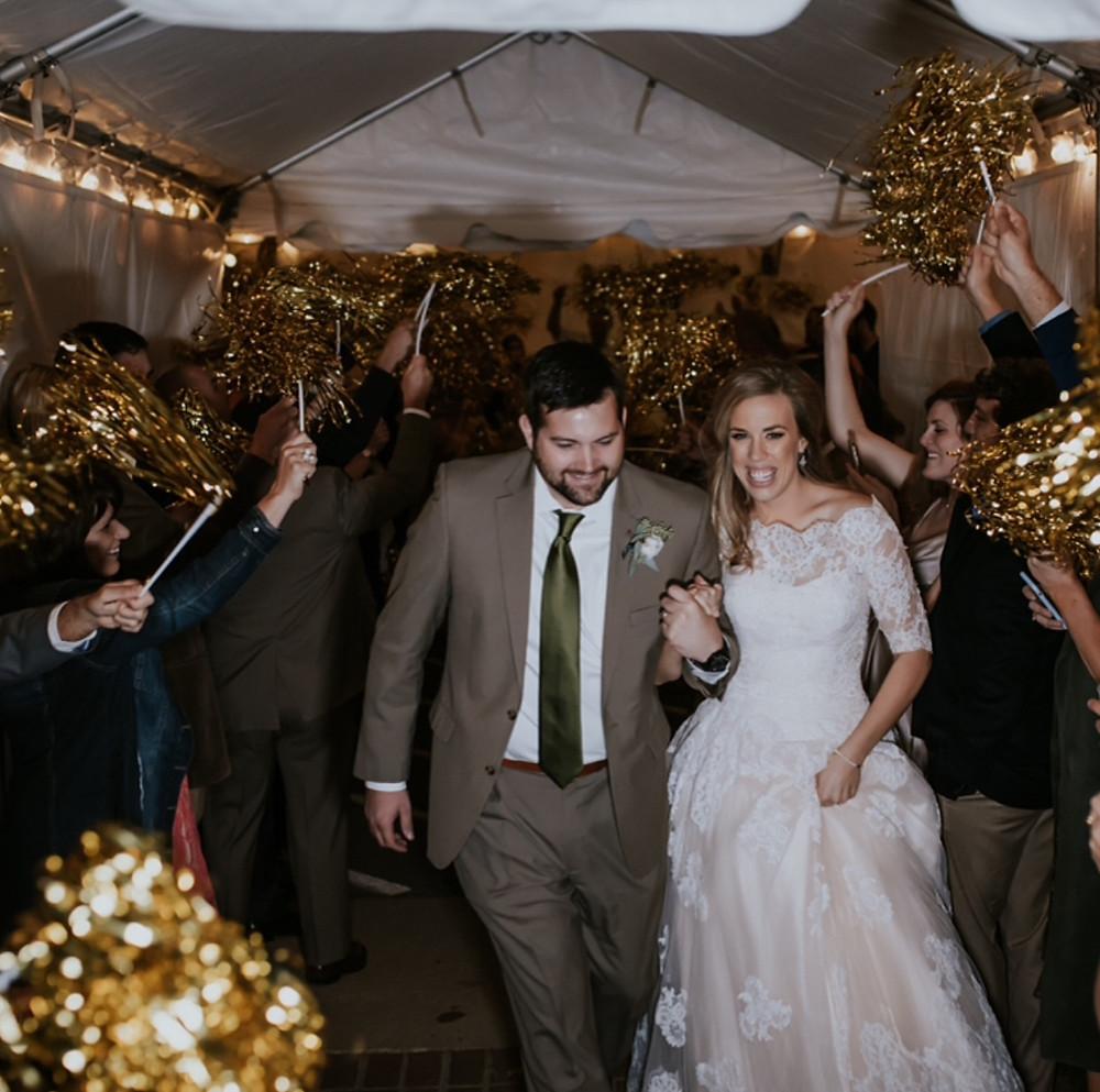 pom pom wedding send off - Nashville, TN