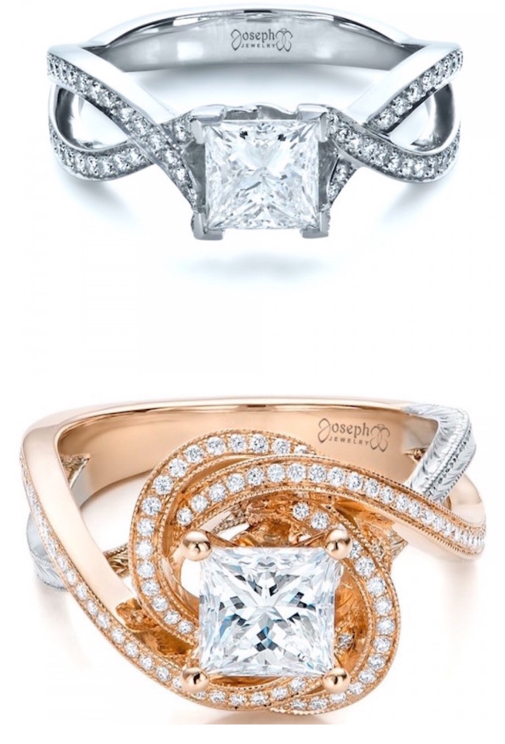 over under engagement rings