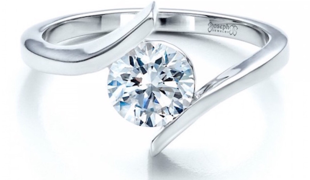 open setting engagement ring