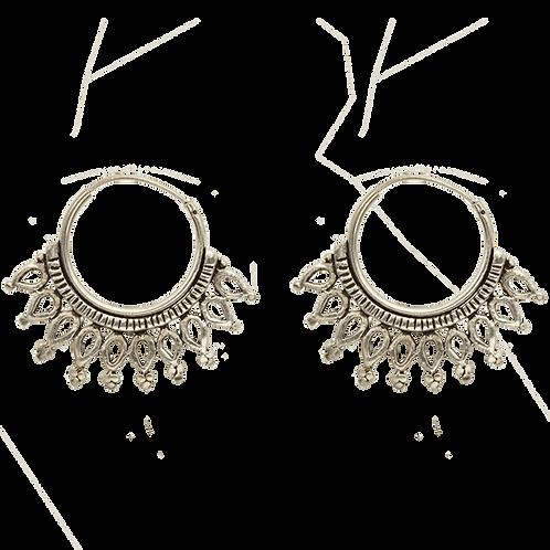 oorbellen zilver kroontje