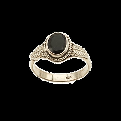ring zilver black onyx