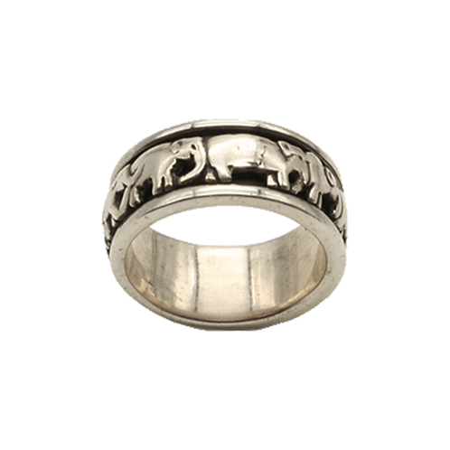ring zilver olifant