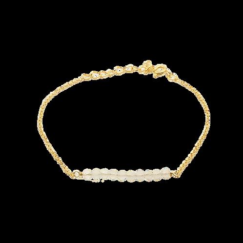 armband goud maansteen