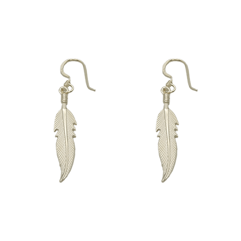 grote oorbellen zilver veer