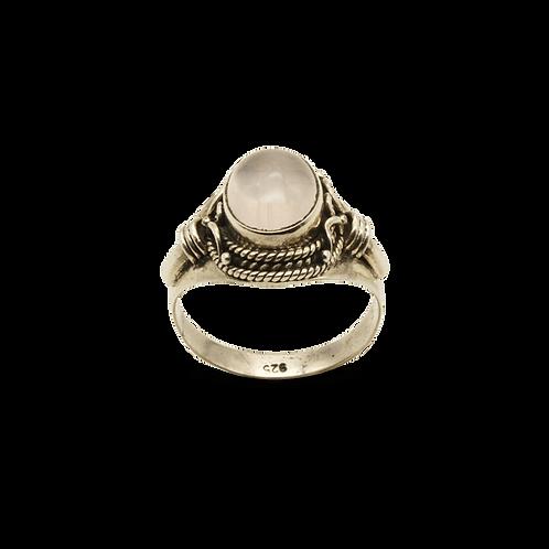 ring zilver rozenkwarts