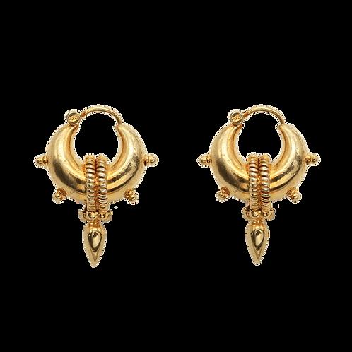oorbellen goud spikes
