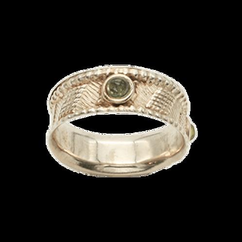 ring zilver labradoriet