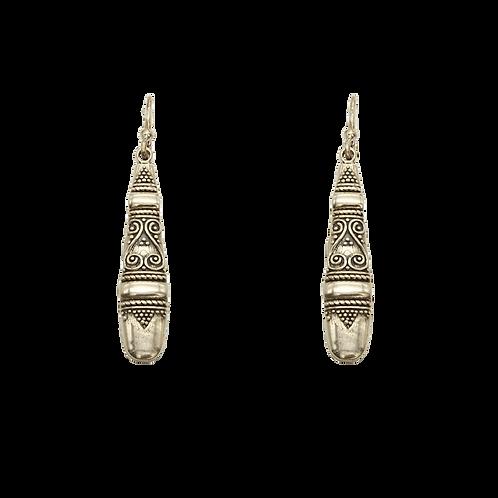 oorbellen zilver tribal