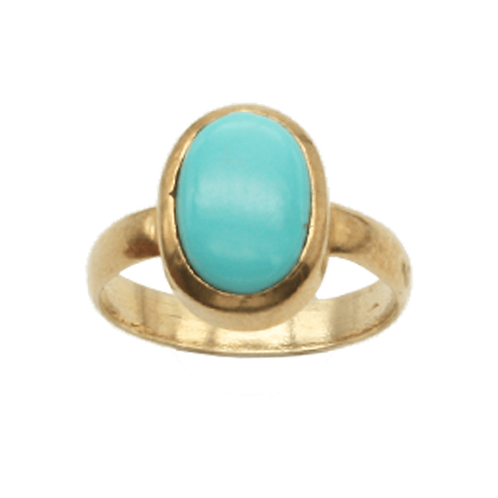 ring goud turquoise