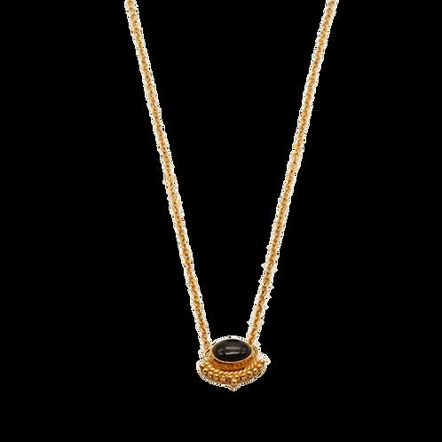 gouden hanger zwarte onyx