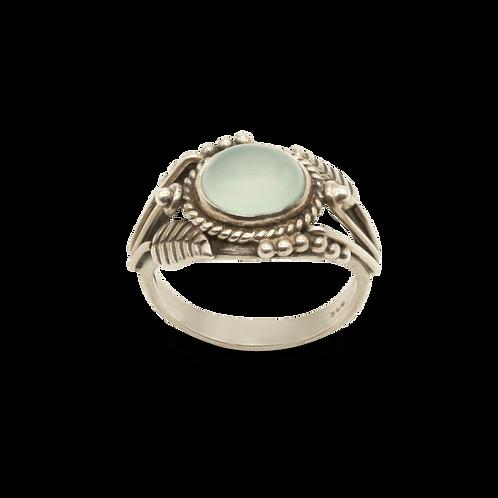 ring zilver aquamarine