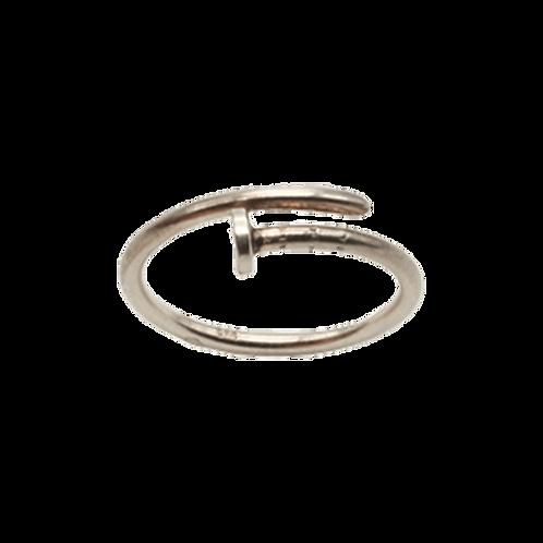 ring zilver spijker