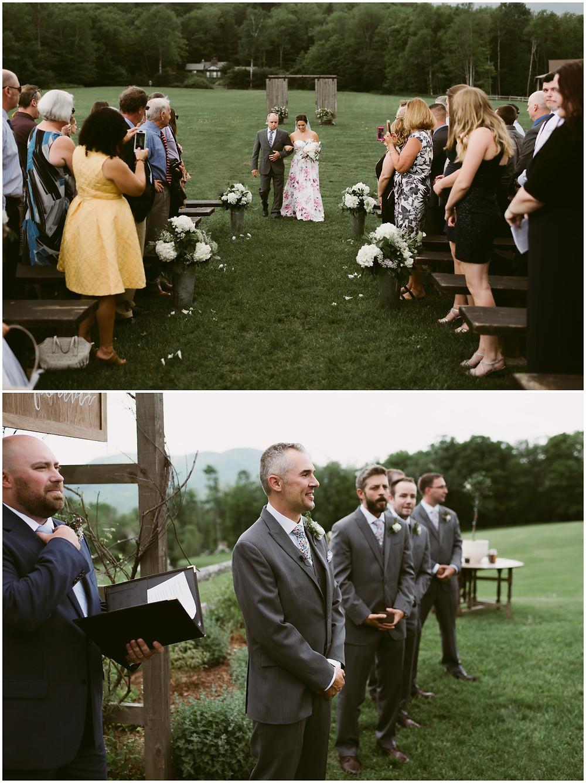 Mountain Top Inn and Resort outdoor wedding