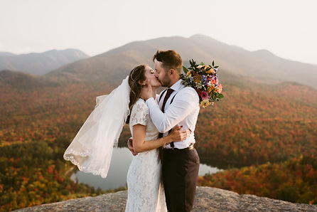 Sunset Elopement on Mount Jo in the fall