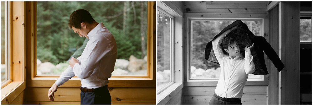 Outdoor summer wedding in the Adirondack mountains