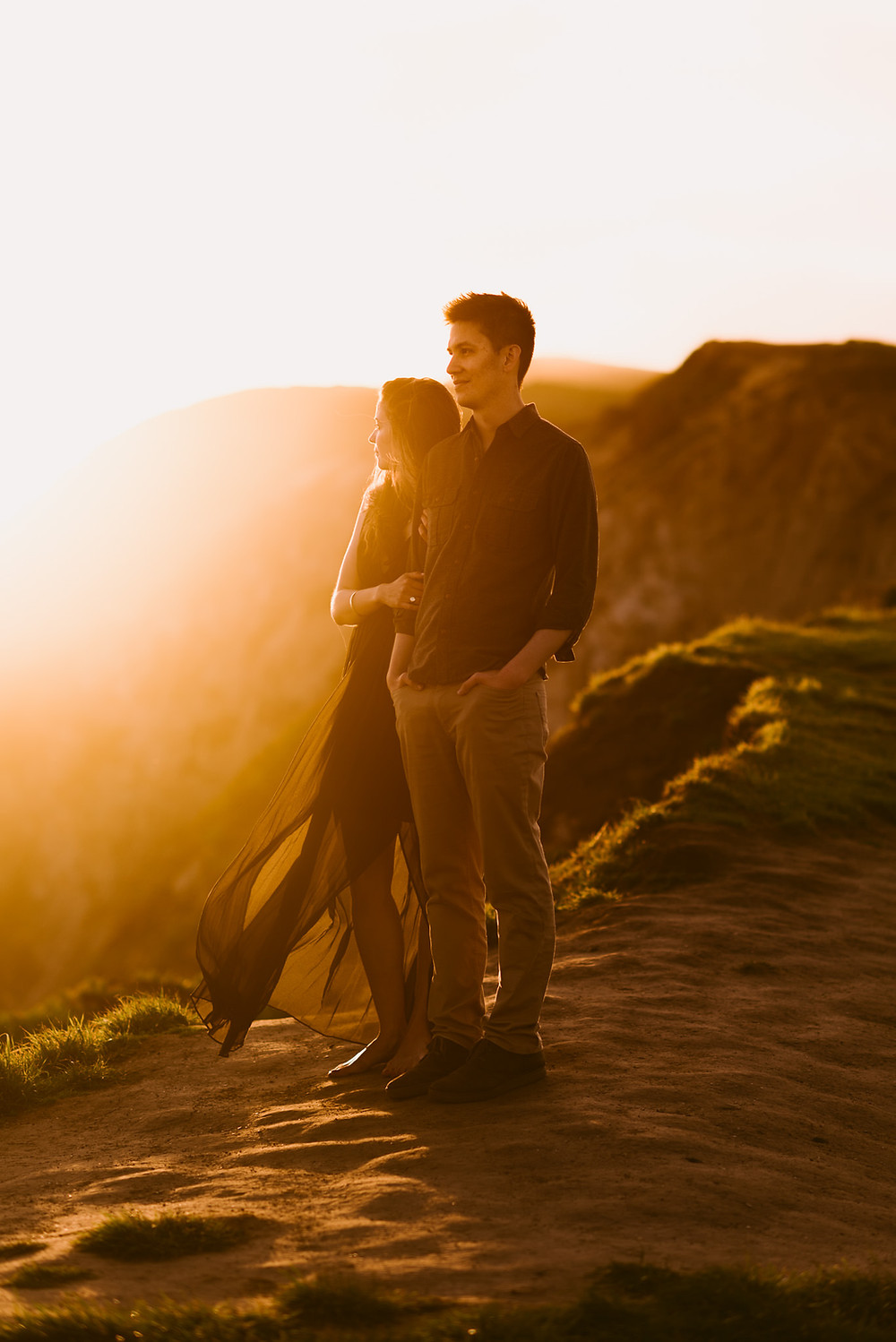 Gorgeous Sunset Engagement Photos at Point Reyes