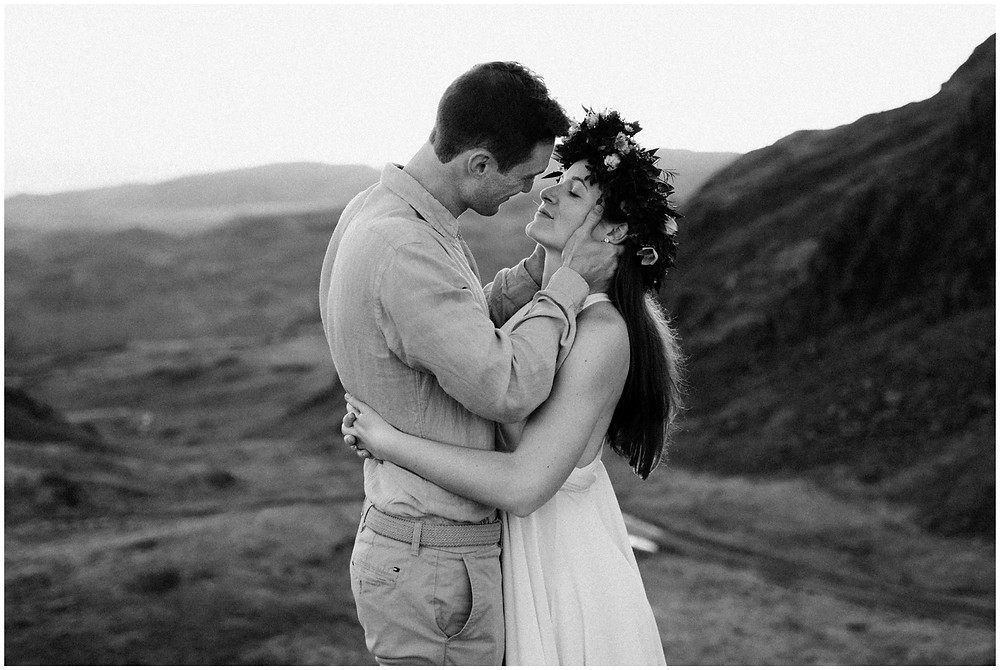 Bohemian wedding portraits in the Lake District, UK