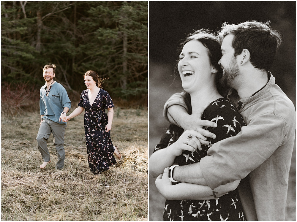 Natural and fun engagement session in the Adirondacks by Mountainaire Gatherings