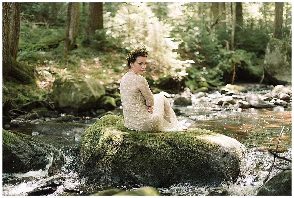 Beautiful trash the dress portrait session by Mountainaire Gatherings
