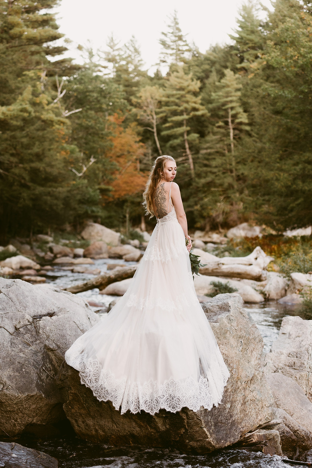 Fall elopement in Lake Placid by upstate NY wedding photographer Mountainaire Gatherings