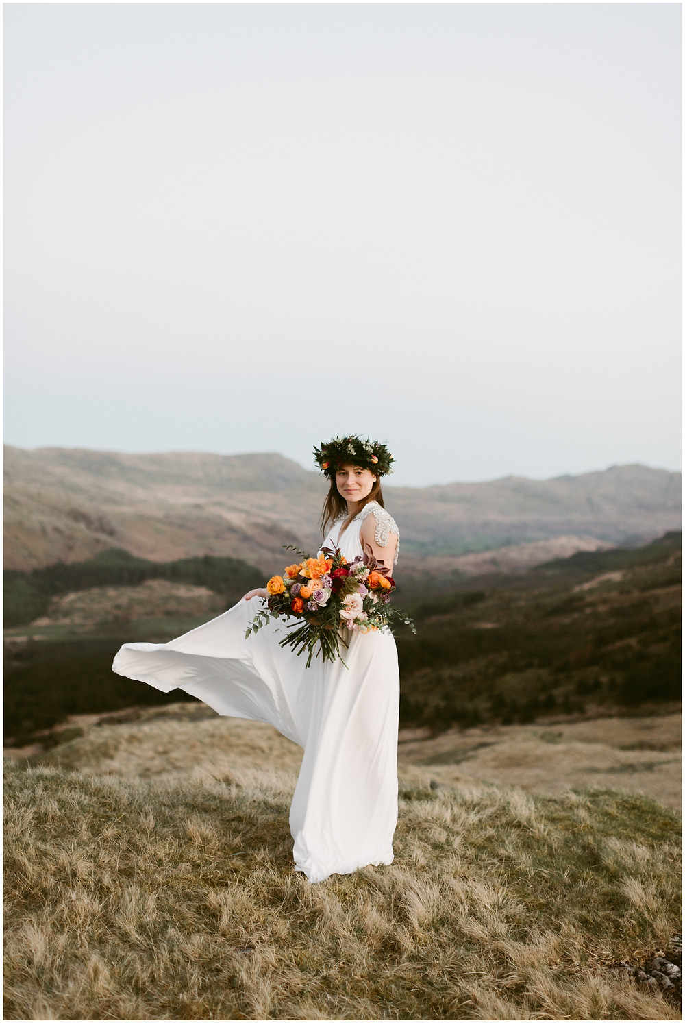 Outdoor, adventure elopement in Great Britain