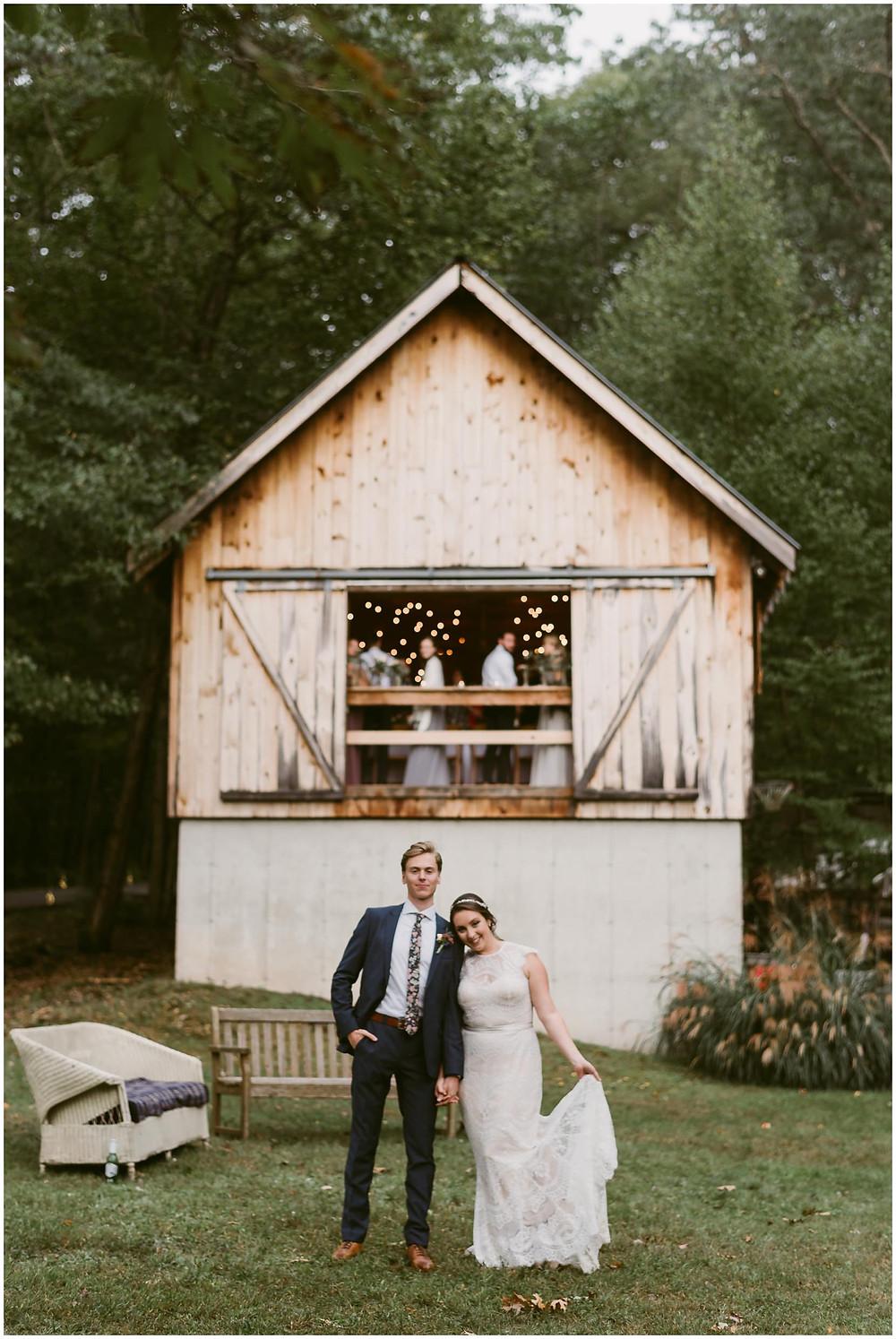 Outdoor fall wedding in the Catskills, NY