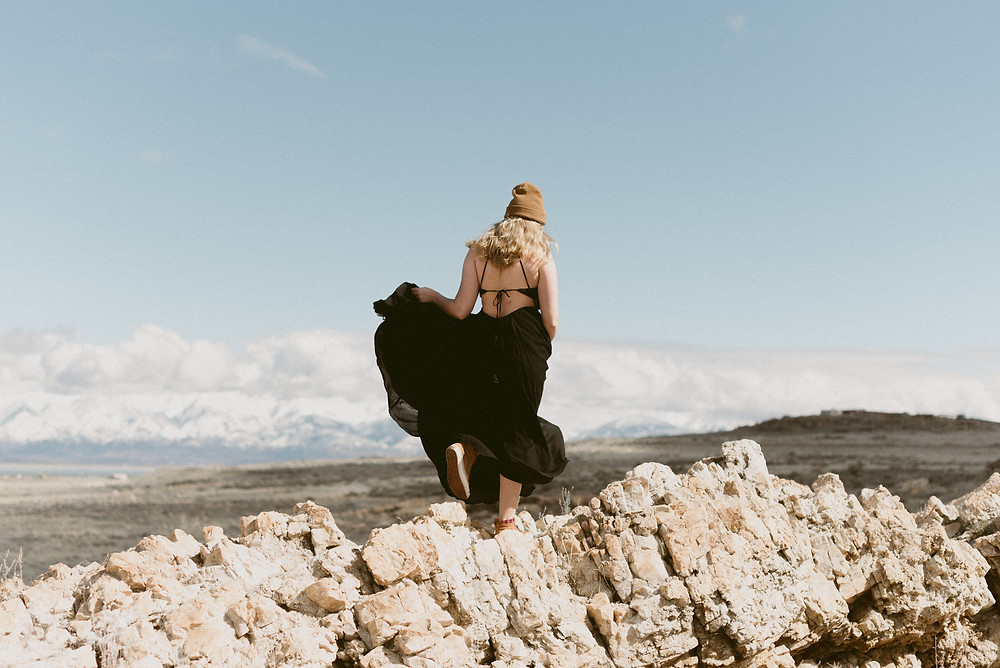 Antelope Island Adventure Portrait Session | Utah Elopement Photographer