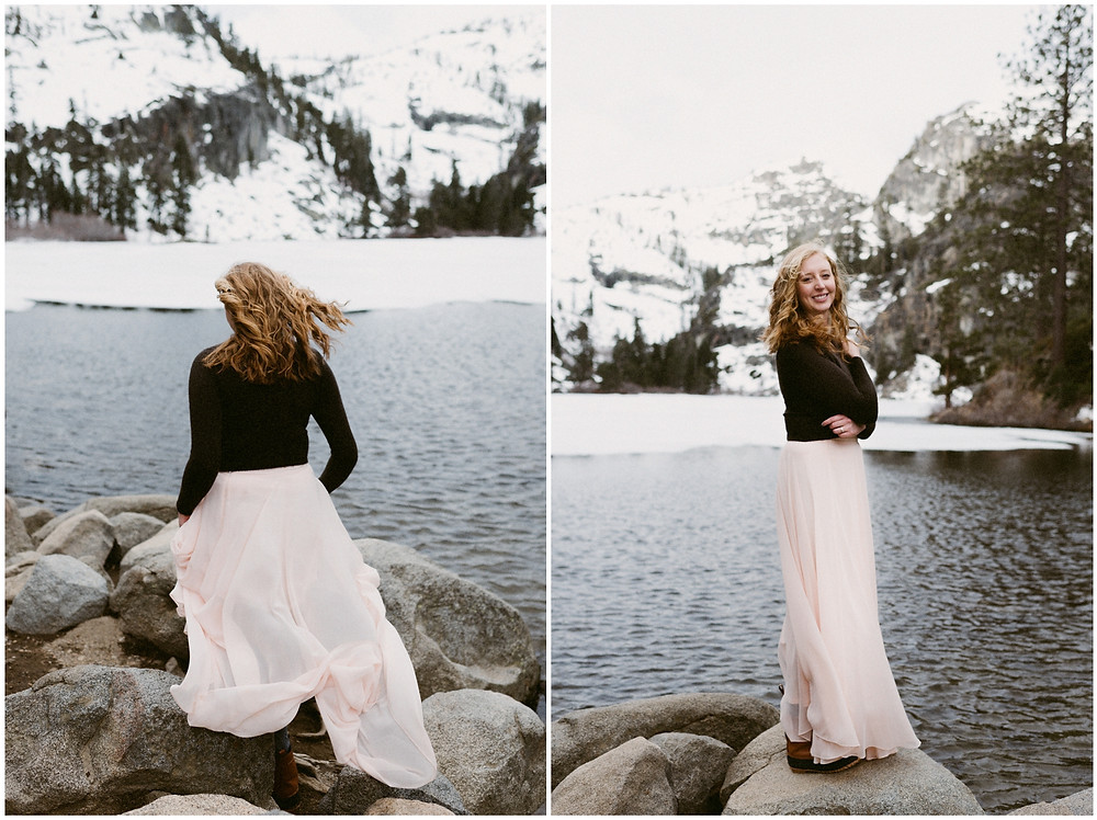 Eagle Lake bridal portraits in California