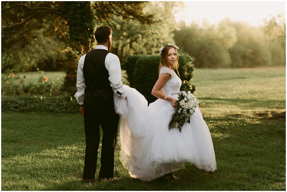 Outdoor summer barn wedding in Maryland